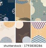 japanese template vector. hand... | Shutterstock .eps vector #1793838286