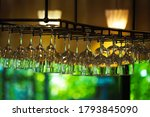 Hanging Glasses In A Restaurant....