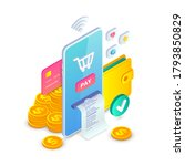 online payment  electronic bank ... | Shutterstock .eps vector #1793850829