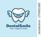 cute dental tooth teeth cartoon ... | Shutterstock .eps vector #1793851300