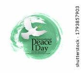 international day of peace... | Shutterstock .eps vector #1793857903