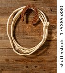 very rusty old horseshoe symbol ... | Shutterstock . vector #1793895880