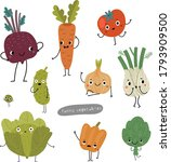funny vegetables with different ...   Shutterstock .eps vector #1793909500
