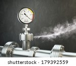 gas or steam leaking from an... | Shutterstock . vector #179392559