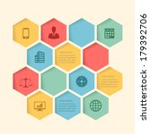 infographic honeycomb structure ... | Shutterstock .eps vector #179392706