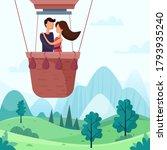 love couple flying on balloon... | Shutterstock .eps vector #1793935240