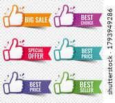 banner recommended with thumbs... | Shutterstock .eps vector #1793949286