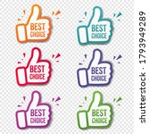 hand banner recommended with... | Shutterstock .eps vector #1793949289