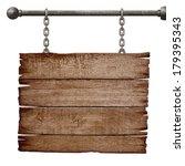 medieval signboard hanging on... | Shutterstock . vector #179395343