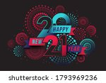 vector happy new year 2021 with ... | Shutterstock .eps vector #1793969236
