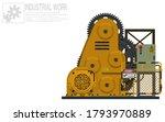 isolate rotating machine on... | Shutterstock .eps vector #1793970889