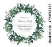 Greenery Round Wreath With...