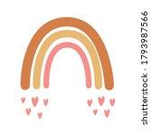 rainbow illustration with... | Shutterstock .eps vector #1793987566