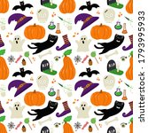 Cute Vector Seamless Pattern...