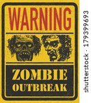zombie outbreak. hand drawn.... | Shutterstock .eps vector #179399693