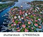 Aerial View Of Sandhamn In...