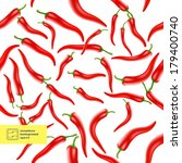 chili peppers seamless pattern. ... | Shutterstock .eps vector #179400740