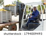 Glad  Smiling Male Forklift...
