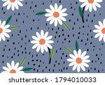 pink daisy pattern daisy... | Shutterstock .eps vector #1794010033