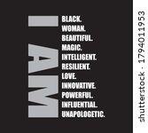 i am black woman t shirt design ... | Shutterstock .eps vector #1794011953