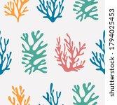 hand drawn seamless pattern.... | Shutterstock .eps vector #1794025453