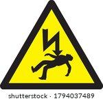 danger of death high voltage... | Shutterstock .eps vector #1794037489