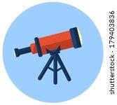 telescope vector  flat icon | Shutterstock .eps vector #179403836