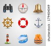 marine set. vector   Shutterstock .eps vector #179404049