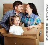 housewarming. photo of a young...   Shutterstock . vector #179404430