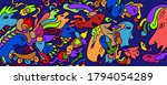colorfull abstract doodle art...   Shutterstock . vector #1794054289