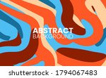 abstract flat colorful fluid...   Shutterstock .eps vector #1794067483