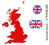 united kingdom map  england... | Shutterstock .eps vector #179408288