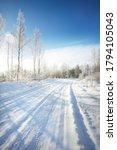 Snow Covered Single Lane Rural...