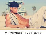 Hot Young Guy At The Beach Wit...