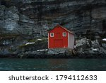 An Old Boathouse On A Stone...