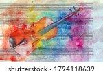 Vintage Violin Background....