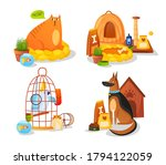 domestic animals and pet... | Shutterstock .eps vector #1794122059