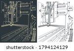 stylized vector illustration of ... | Shutterstock .eps vector #1794124129