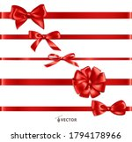 realistic gift bow. red ribbon... | Shutterstock .eps vector #1794178966