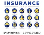blue and yellow insurance icon... | Shutterstock .eps vector #1794179380