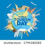 world tourism day. the... | Shutterstock .eps vector #1794180283