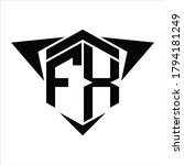 fx logo monogram with wings...   Shutterstock .eps vector #1794181249