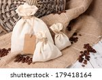 sacks with coffee beans on... | Shutterstock . vector #179418164