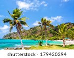 three palm trees lined up next... | Shutterstock . vector #179420294