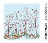 chinoseries illustration... | Shutterstock . vector #1794207073