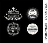 hipster style vintage logo... | Shutterstock .eps vector #1794219166