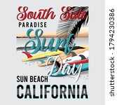 surf day slogan with surfboard... | Shutterstock .eps vector #1794230386