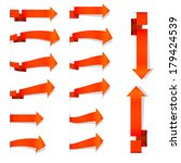 collection of the orange arrows ... | Shutterstock .eps vector #179424539