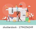 seamstress dressmaker tiny male ... | Shutterstock .eps vector #1794256249