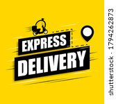 express delivery icon on a... | Shutterstock .eps vector #1794262873